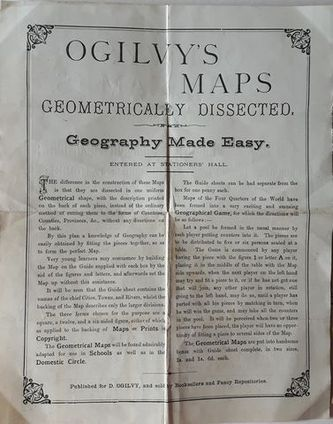 Clive farahar antiquarian books europe ogilvys maps ogilvys maps geometrically dissected geography made easy d ogilvy c1870 gumiabroncs Choice Image